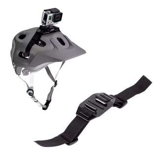 Helmet Strap with Mount Adapter for GoPro or any Leading Action Cams (Best for Motorcycles & Mountain Bikes)