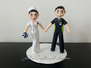 Nurse Themed Cake Topper 5inches