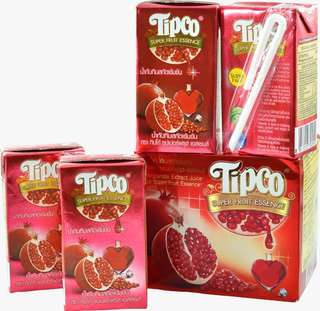 Tipco Super Fruit Essence 100% Pomegranate ( 110ml x 4 ) x 5box + 1box