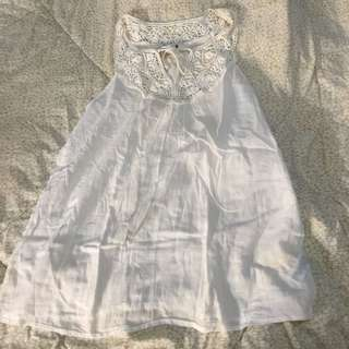 White Emboldered Top Foreve21 long top