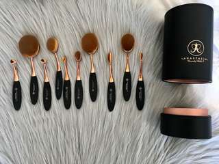 Anastasia Beverly Hills perfect complexion rose gold & leather brush set