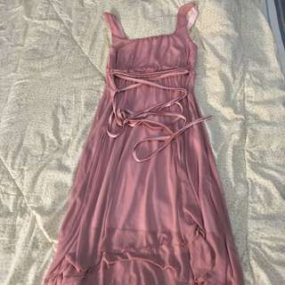 Semi Formal Pink Mauve Dress karimadon