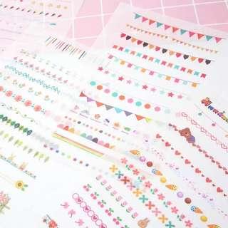 (PO) Colour Divider Stickers
