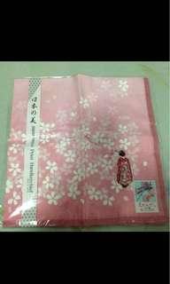 Japanesque print Handkerchief / souvenir from Japan ( present / gift )