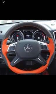 Customized Leather wrap for steering wheel