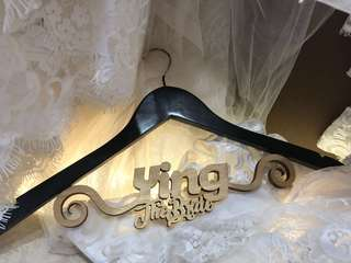 Customised wedding hangers