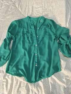 Green Sheer Loose Polo