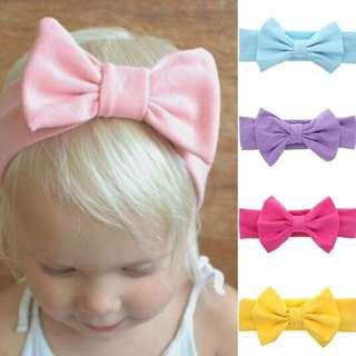 Instock - classic bow headband, baby infant toddler girl children cute glad 123456789 lalalala