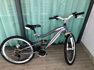 "26"" Full Suspension Bicycle for Women"