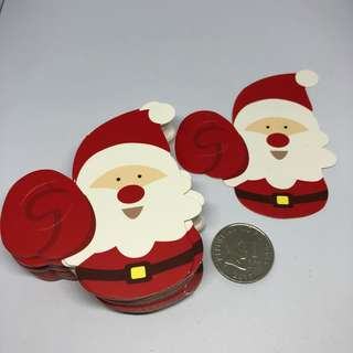 50pcs Lollipop Gift Card Holder - Santa Clause