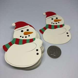 50pcs Lollipop Gift Card Holder - Christmas Snowman