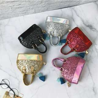 SHIMMERING KID HANDBAG