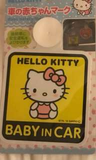BN HELLO KITTY 'baby on board' sign