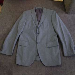 Uniqlo Grey Pinstripe 2-Button Blazer | Zara H&M Topman COS
