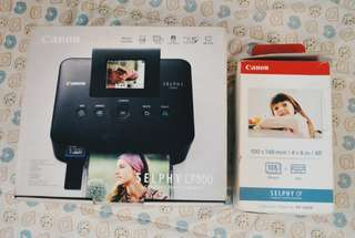Canon Selphy CP800 Compact Photo Printer with Photo Paper and Ink Set