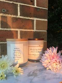 Natural soy wax candles