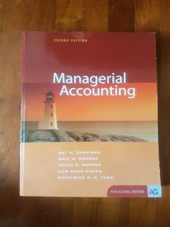 Managerial Accounting MA ACCT112/102 SMU MOD NUS ACC2002