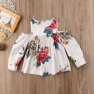 Instock - floral top, baby infant toddler girl children cute glad 123456789 lalalala