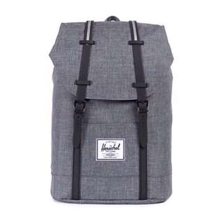 🎉SALE🎉 HERSCHEL SUPPLY RETREAT BACKPACK (CHARCOAL CROSSHATCH/BLACK/WHITE)