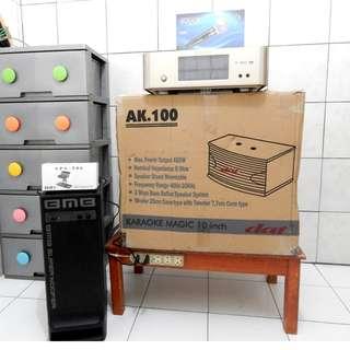 Ampli Karaoke 1 Set BuildUp Sentuh+Sepasang Spk Baru+Mic+Bricket+Sub.BMB KATAPANG SOREANG