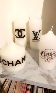 Designer/personalised Candles