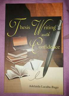 Thesis Writing with Confidence