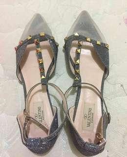 valesepatu pesta flatshoes ada hak pendek sedikit dibagian bawah