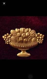 Hermitage Fruit Basket Brooch