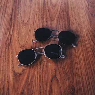 Kacamata Hitam Rotund