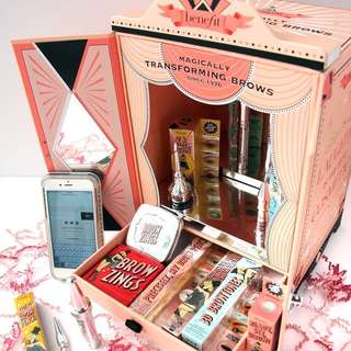 Benefit brow set wardrobe Mac Nars Shu uemura Ysl Gucci Chanel Dior urban decay shiseido laneige Armarni Estée Lauder estee lancome powder gel primer compact