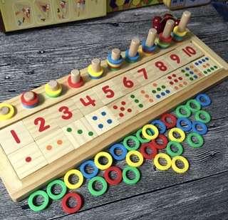 Montessori Educational Mathematics Wooden Toys (Brand New)