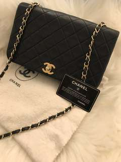 Chanel vintage full flap chain bag