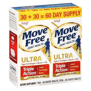 [Last One Set] Schiff Move Free Ultra Joint Supplement 30 ea [2 Pack], exp date 08/2020