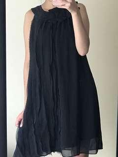 Black Flowy Midi Dress