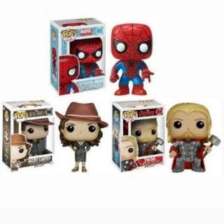 Funko Pop Spiderman Agent Carter Thor