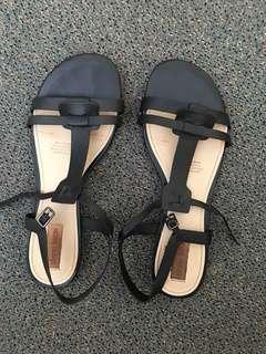 Diana Ferrari Heavenly leather Sandals Black