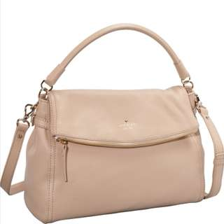 AUTHENTIC KATE SPADE Leather Cobble Hill Little Minka 2 Way Bag (Baby Pink)