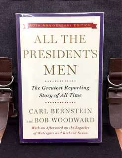 《New Book Condition + The Full Account Of Watergate Scandal That Led Nixon Resignation》ALL THE PRESIDENT'S MEN : The Greatest Reporting Story Of All Time