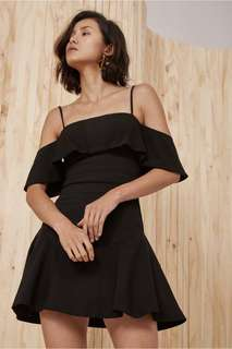 BNWT C/Meo Collective Compose Short Sleeve Mini Dress in Black M