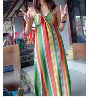 民族風 波西米亞 度假 海灘 性感 長洋裝
