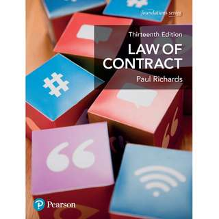 Law of Contract 13th Thirteenth Edition by Paul Richards - Pearson