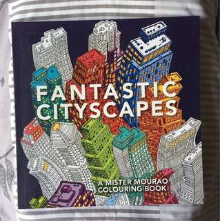 Buku mewarnai Fantastic City Scapes