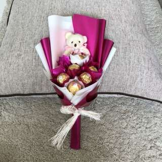 Bear & chocolate bouquet
