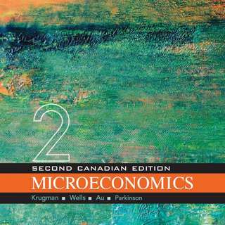 Microeconomics 2nd Canadian Edition textbook + study guide