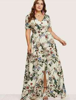 Plus size maxi dress freesize L to XXL