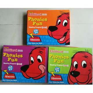 Phonics Readers Clifford the big red dog 3 different levels, 36 readers altogether