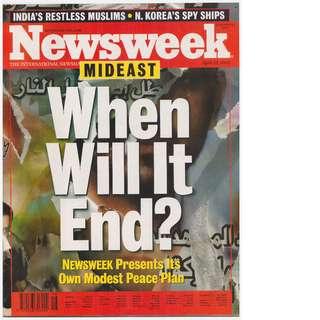 Newsweek Magazine (April 22, 2002 issue)