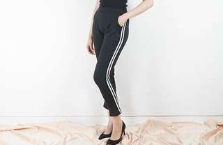 two lines pants celana