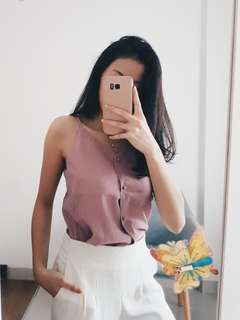 LAST PIECE! IMPORTED Dusty Nude Pink Sleveless Top