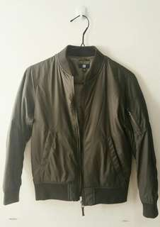 Uniqlo Olive Green Bomber Jacket
